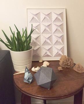 Cadre origami