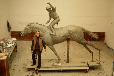 Lifesize clay sculpture of silent witness
