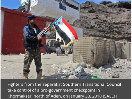 Southern Yemen military personnel threaten to take control of Aden presidential palace.