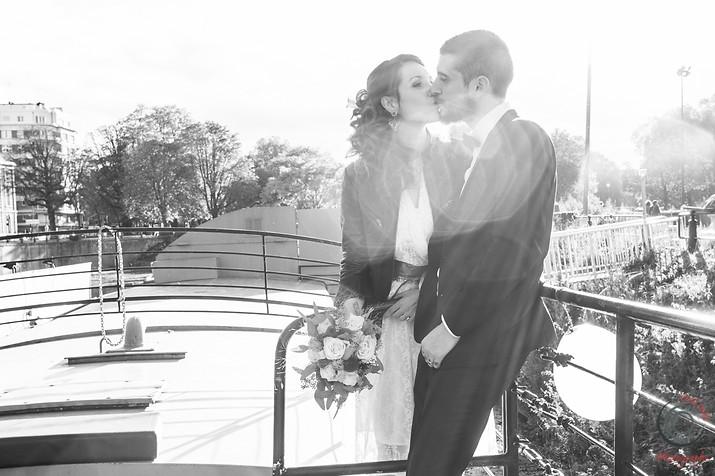 mariage sur une péniche