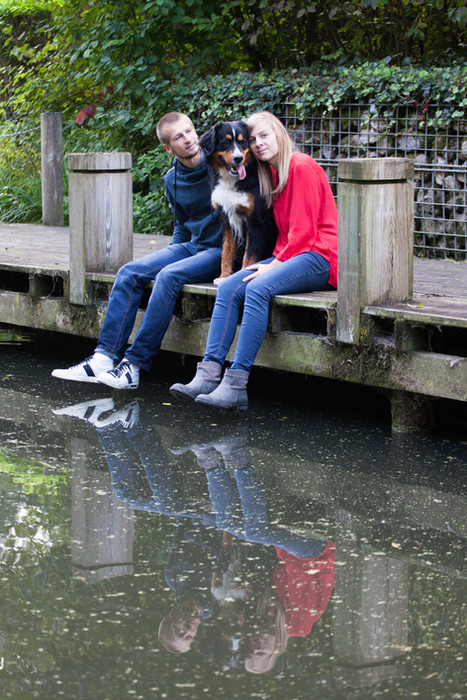 Séance couple chien