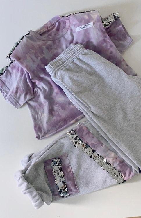 Tee+Pants Tie Dye Lillac