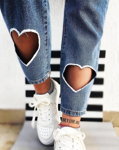 jeans cuori