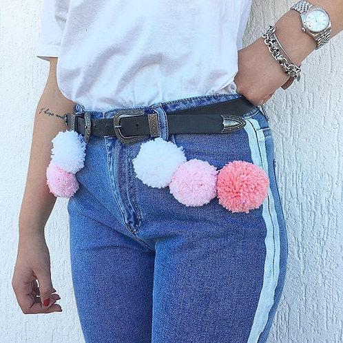 Jeans pompom grandi