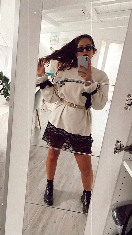 Vestito Pizzo/paillettes