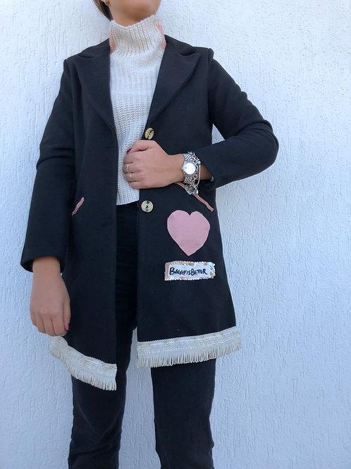 Cappotto frange e cuore