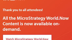 MicroStrategy World 2021 On Demand & My Recommendations