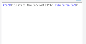 Dynamic Copyright Dates in MicroStrategy
