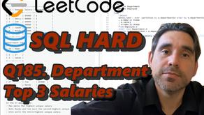 Leetcode 185: Department Top 3 Salaries [SQL HARD]
