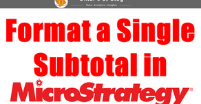 Format a Single Subtotal Cell - MicroStrategy