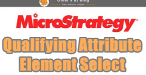 MicroStrategy Qualifying Attribute Element Selector