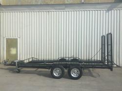 Custom made trailer fold down ramps