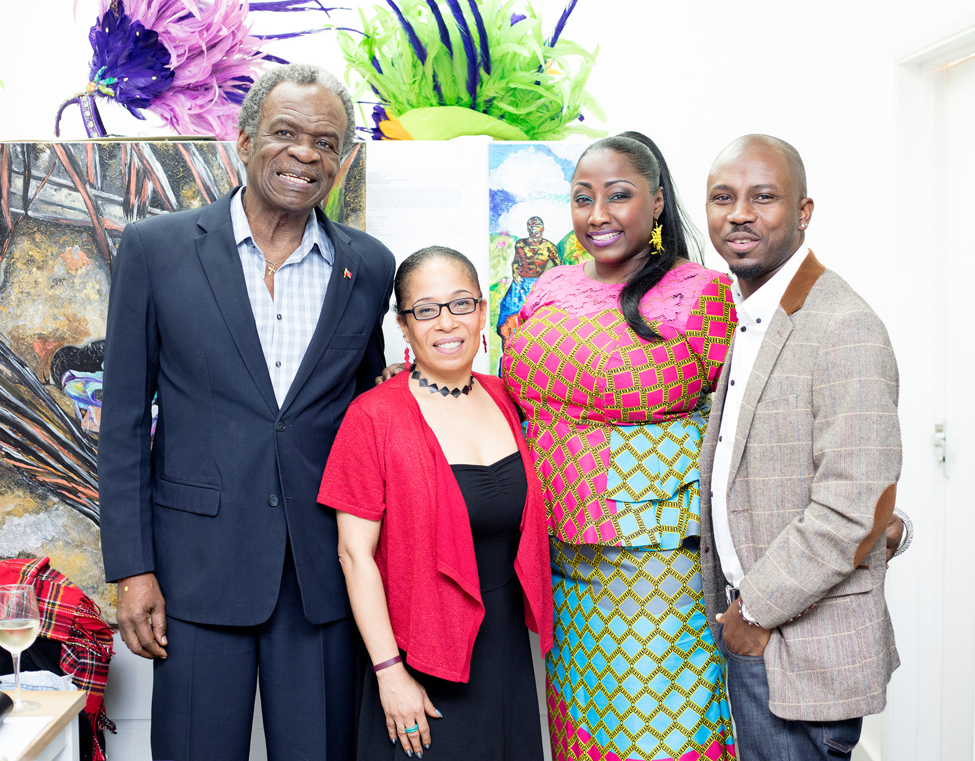 His Excellency Orville London High Commissioner of Trinidad & Tobago, London, Elizabeth James, Tricia Trotman-Maraj and Dwayne Smith of Tropical Mas Association