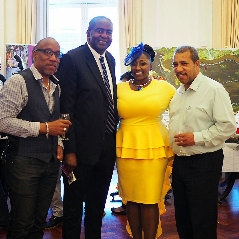 Left-Right: David Roberts, caribDirect Media; Robert Walker, Grace Foods U.K.; Tricia Trotman-Maraj, caribArt Project; George Ruddock The Voice Media Group.