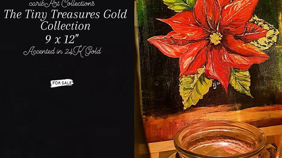 'Pointsettia - Red Gold'