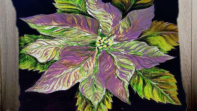 Pointsettia - Lilac PILLOW SLIP