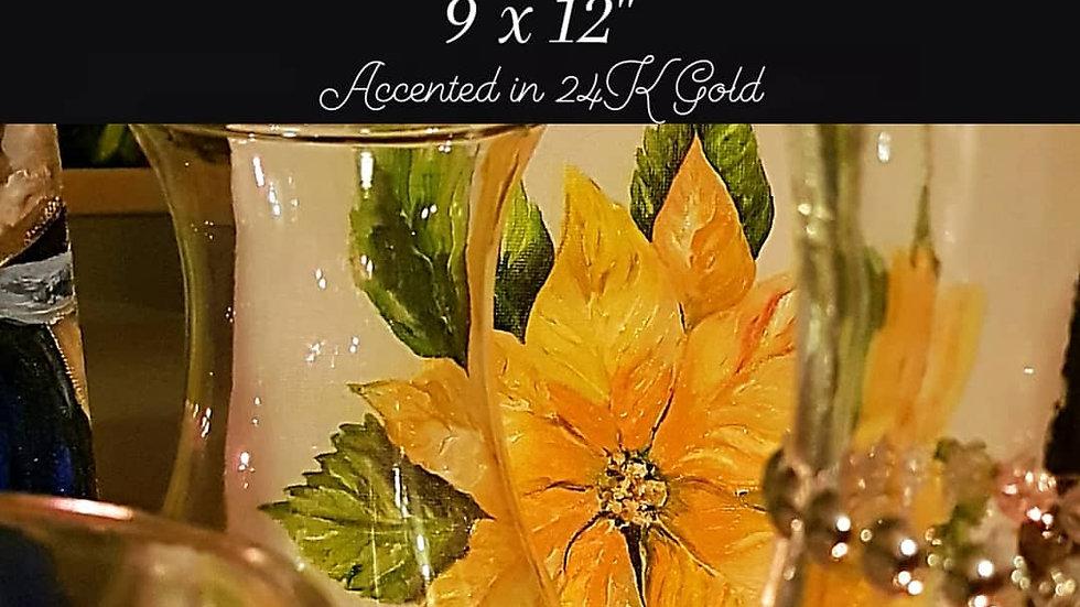 Pointsettia  - Yellow Gold