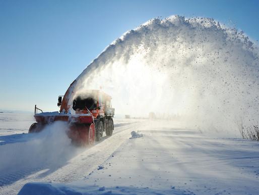 Верхний Ларс разгребли от снега