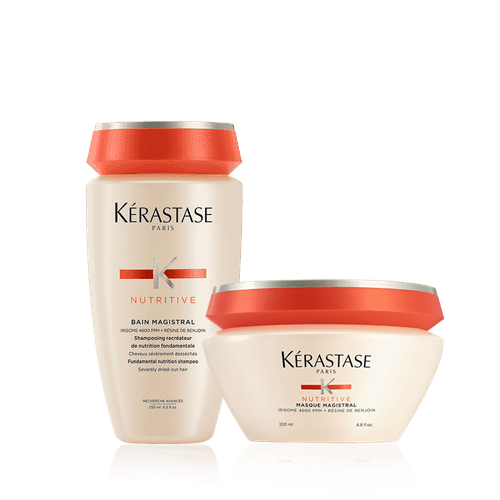 Kit Kerastase: Shampoo 250ml + Máscara Nutritive Magistral 200g