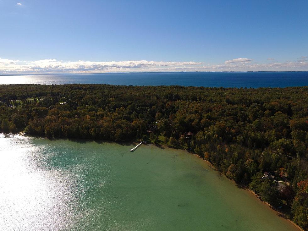Torch Lake and Lake Michigan in Kewadin