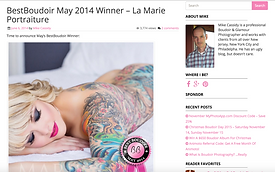La Marie Boudoir Portraiture - Best Boudoir Winner