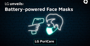 LG reveals battery-powered face masks