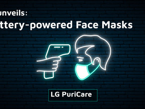 LG reveals battery-powered face masks