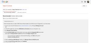 Search Console recommended methods