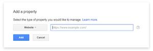 Adding website on Google Webmaster