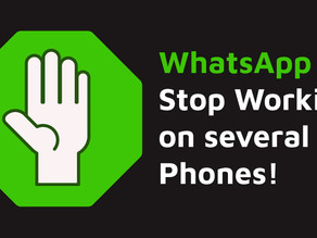 WhatsApp to stop working on several smartphones!