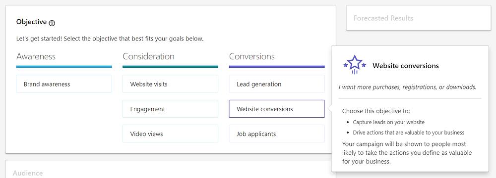 Website Conversion Linkedin Ads