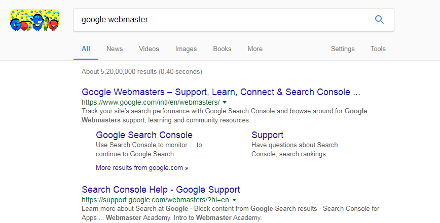Google Webmaster Search