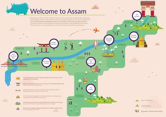 Infographics of Assam