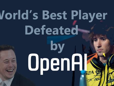 Open AI bot beats DOTA's Best Player?