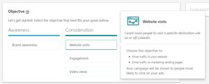 Website Visits Linkedin Ad