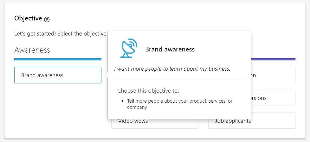 Brand awareness Linkedin Ad