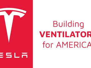 Tesla to build ventilators with car parts!