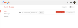 Adding Property on Google Webmaster