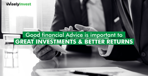 Good financial Advice is important to good investment
