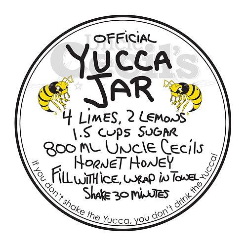Official Yucca Recipe Sticker