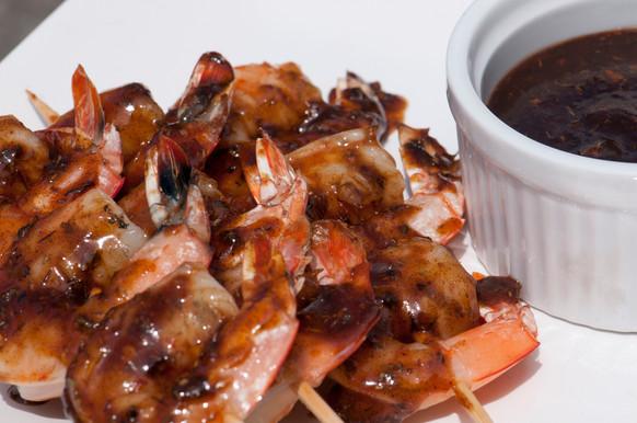 Honey-Glazed Spicy Jerk Shrimp