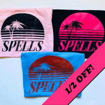 Distressed Tropical Logo T-Shirts