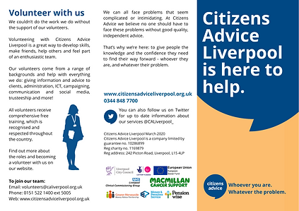 Citizens Advice Liverpool - Leaflet Marc
