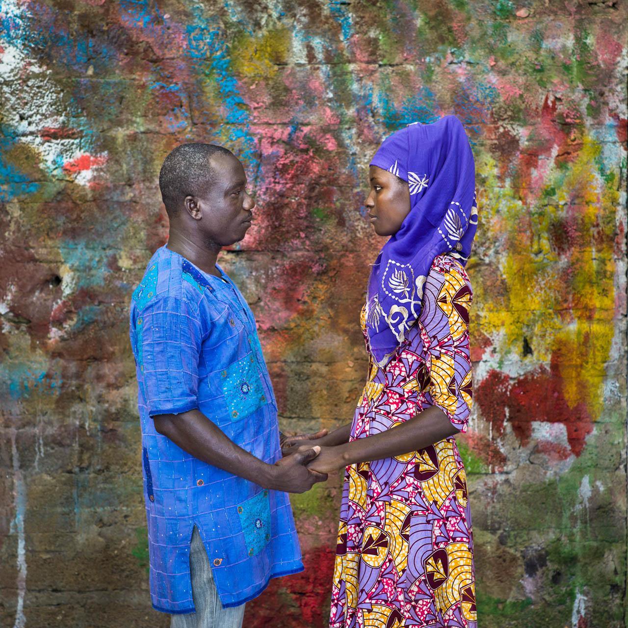 Shahadu Aliu with Issah Amina