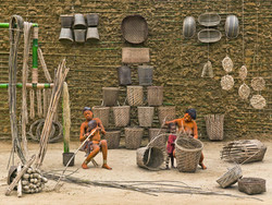 Walé Oyombé and Mpia, Basket Weaving