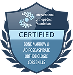 Jean Santo IOF certified badge Bone Marrow Adipose Aspirate Orthobiologic Core Skills