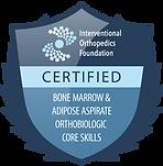 Jean Santo IOF certified badge Bone Marrow Adipose Aspirate Orthobiologic Core Skills