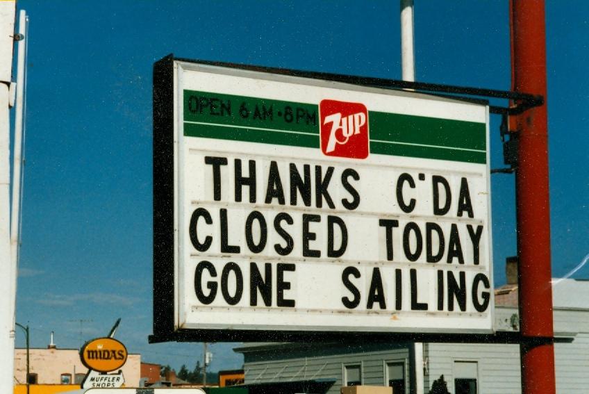 RR Gone Sailing