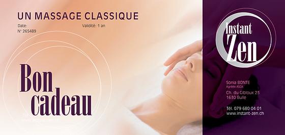Instant Zen - bon Massage classique 210
