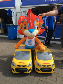 Mascot at European Championships Amsterdam